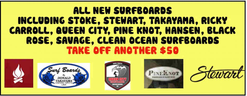 all new surfboards