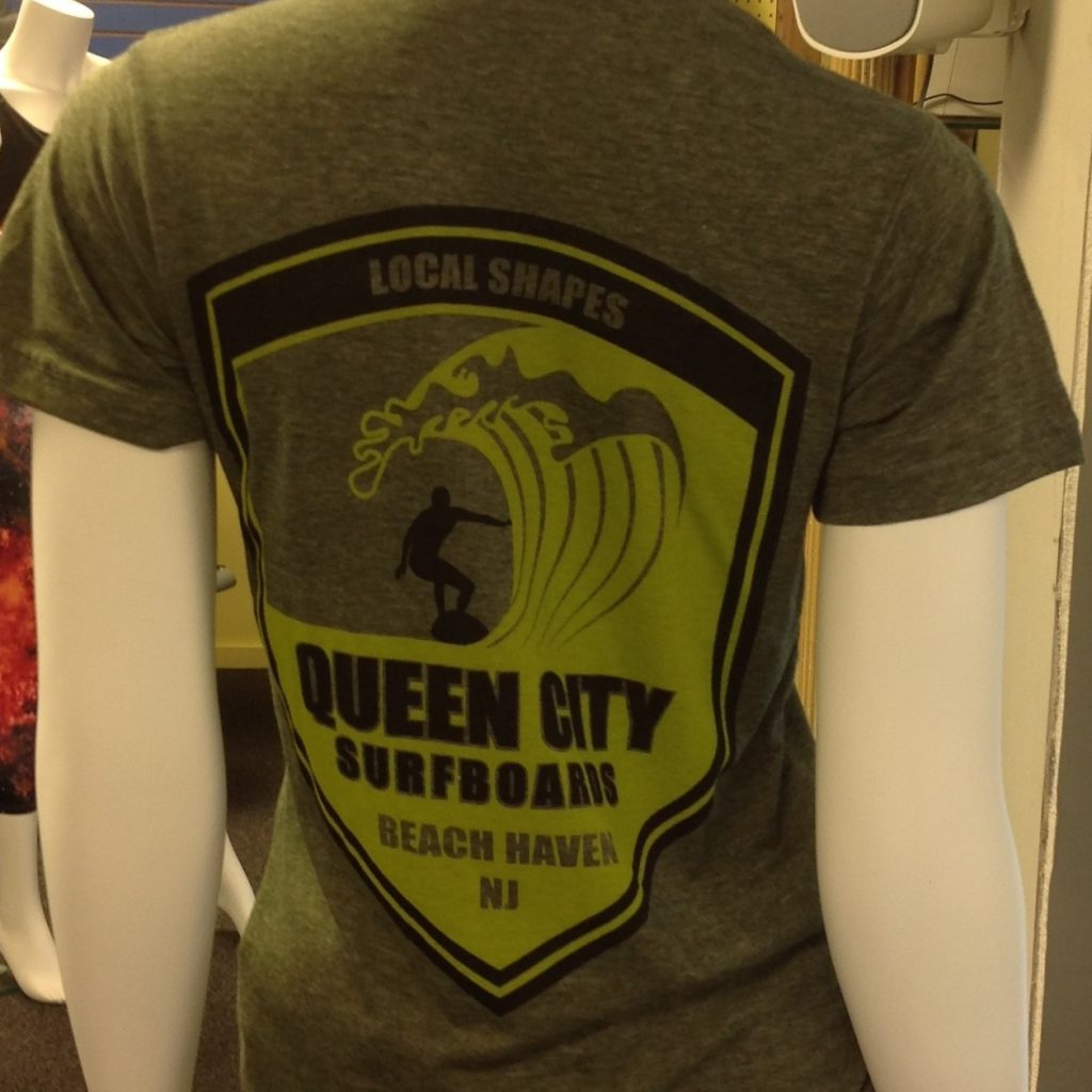 Queen City Surfboards t-shirt, $22