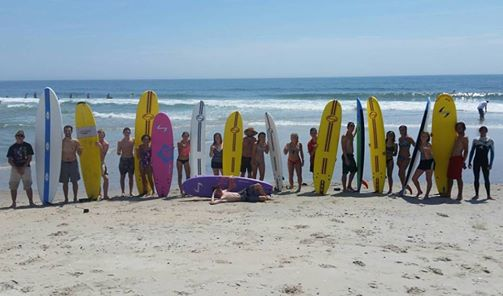 kids finishing up surf school