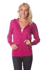 Womens Baja Stripe French Terry Zip Hood