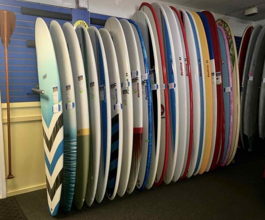 Stewart Surfboard inventory in shop