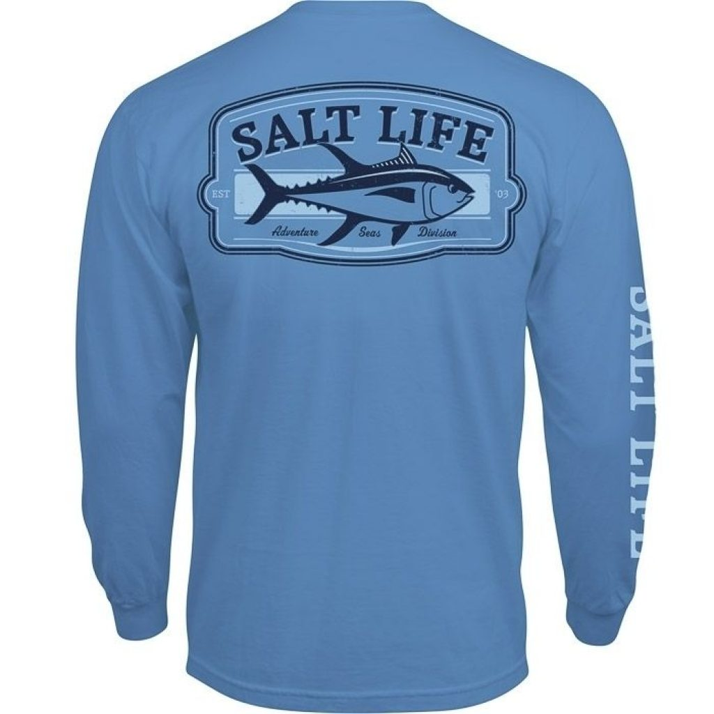 Salt Life Adventure Seas Long Sleeve Pocket Tee