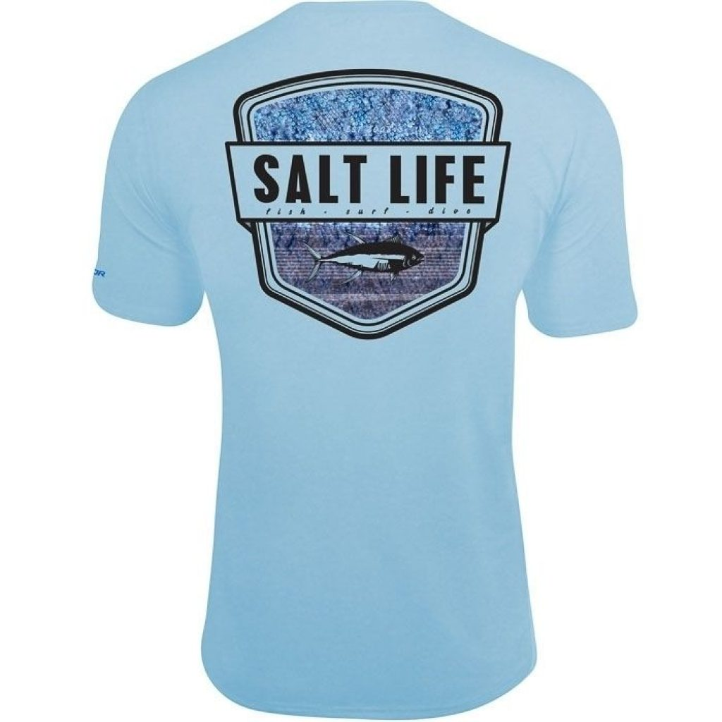 Salt Life Water Skinz Badge Performance Pocket Tee