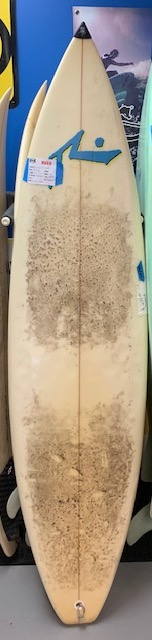 "USED Rusty Thruster w/ nose guard; 6'6"" x 19""; $275"
