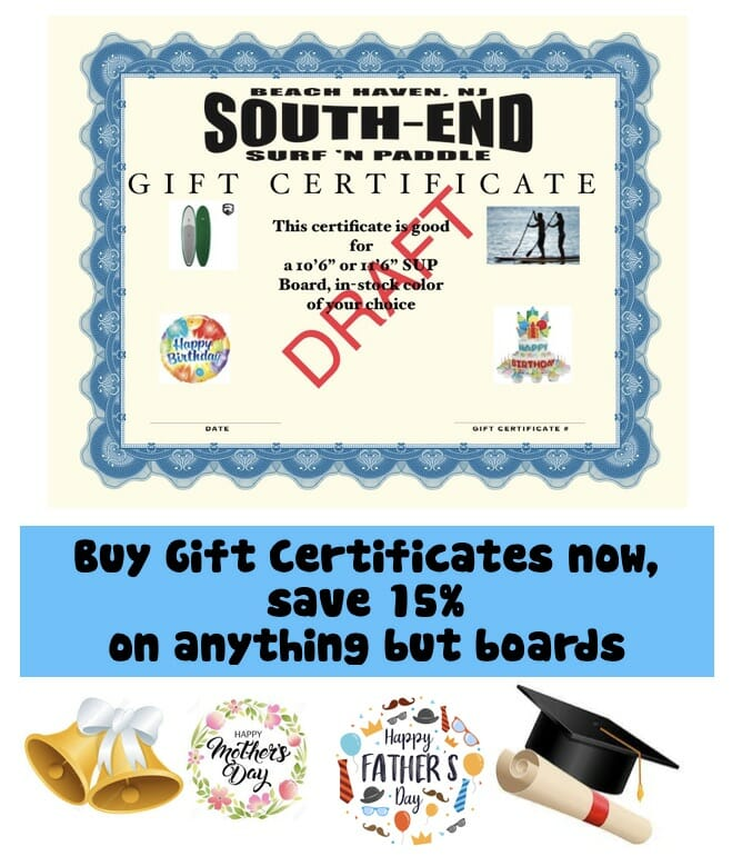Blank gift certificates