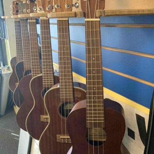 ukuleles in shop