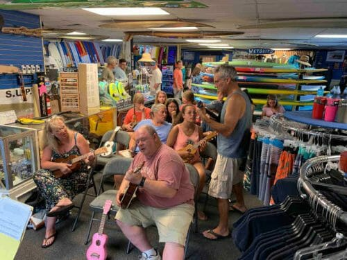 tuesday ukulele night at the shop