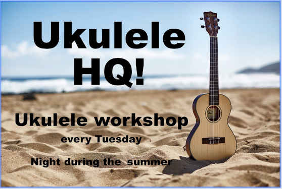 ukulele night during the summer